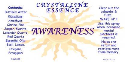 AWARENESS Vibrational Spray Label