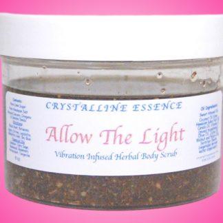 Allow The Light Vibration Infused Herbal Body Scrub 8oz Jar