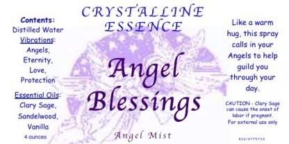 Angel Blessings Angel Mist Label