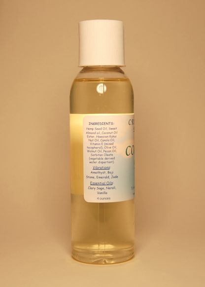 Cool The Pain Vibrational Massage & Bath Oil 4oz Contents