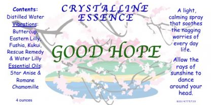 GOOD HOPE Vibrational Spray Label