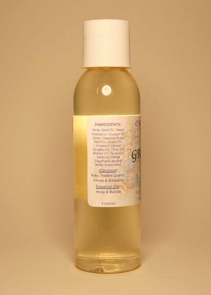 Grounding Vibrational Massage & Bath Oil 4oz Contents