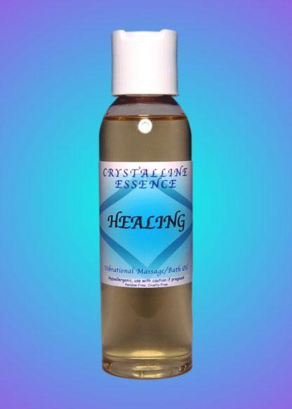 Healing Vibrational Massage & Bath Oil 4oz Bottle