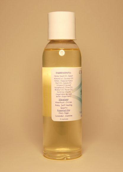 Healing Vibrational Massage & Bath Oil 4oz Contents