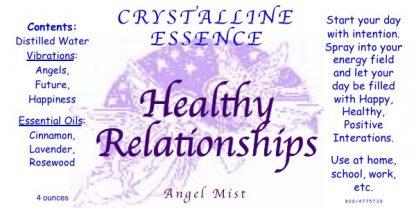 Healthy Relationships Angel Mist Label