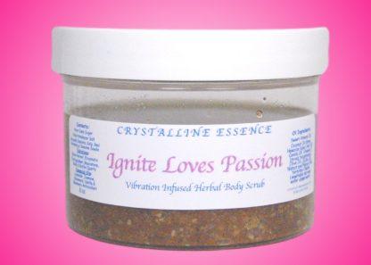 Ignite Loves Passion Vibration Infused Herbal Body Scrub 8oz Jar