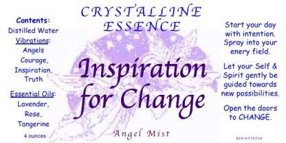 Inspiration for Change Angel Mist Label