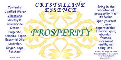 PROSPERITY Vibrational Spray Label