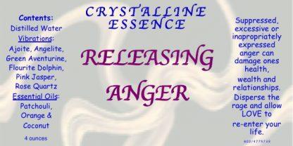 RELEASING ANGER Vibrational Spray Label