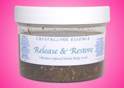 Release & Restore Vibration Infused Herbal Body Scrub 8oz Jar