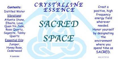 SACRED SPACE Vibrational Spray Label