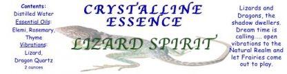 Lizard Spirit Spray Label