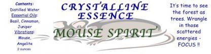Mouse Spirit Spray Label