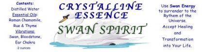 Swan Spirit Spray Label