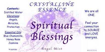 SPIRITUAL BLESSINGS Angel Mist Label