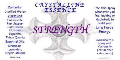 STRENGTH Vibrational Spray Label