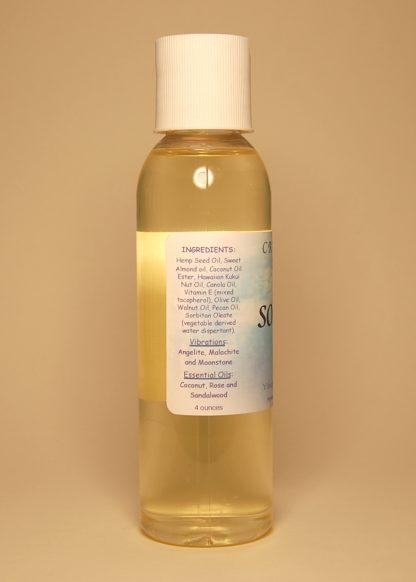 Soothing Vibrational Massage & Bath Oil 4oz Contents