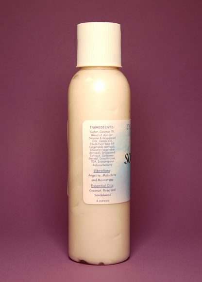 Soothing Vibrational Massage & Body Lotion 4oz Contents