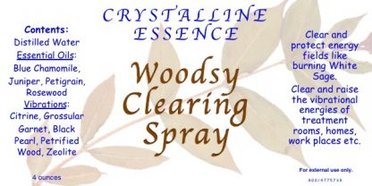 WOODSY CLEARING SPRAY LABEL